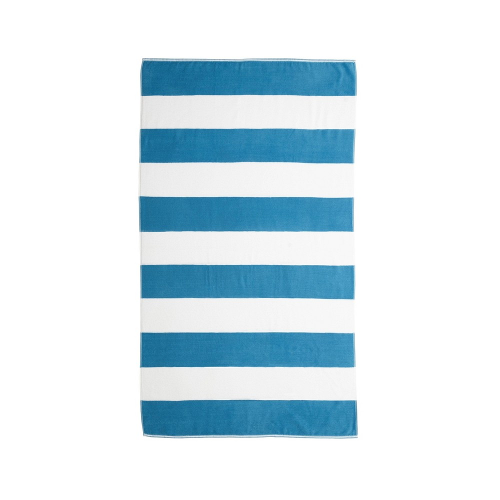 Image of Caro Cabana Beach Towel Tropical Blue - Caro Home