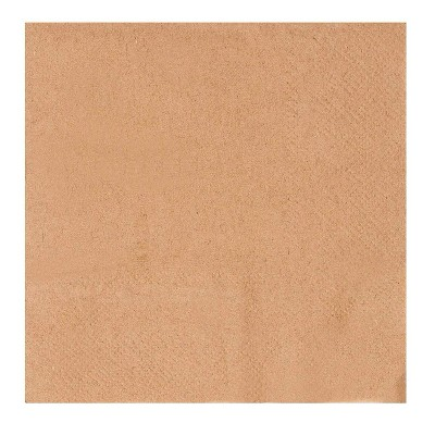"""Juvale 500-Pack Disposable Kraft Paper Cocktail Napkins 5"""" Brown Party Supplies"""