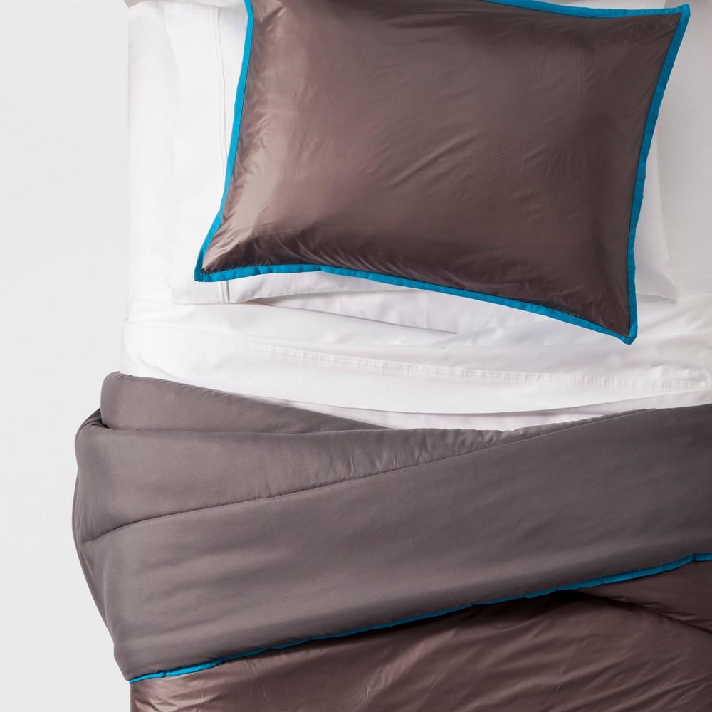 Puffer Comforter Set (Twin) - Pillowfort, Gray
