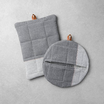 2pk Potholder Set Gray - Hearth & Hand™ with Magnolia