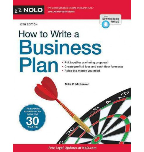 How to Write a Business Plan (Paperback) (Mike P. McKeever) - image 1 of 1