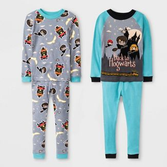 Toddler Boys 4pc Harry Potter Long Sleeve Pajama Set - Turquoise 5T