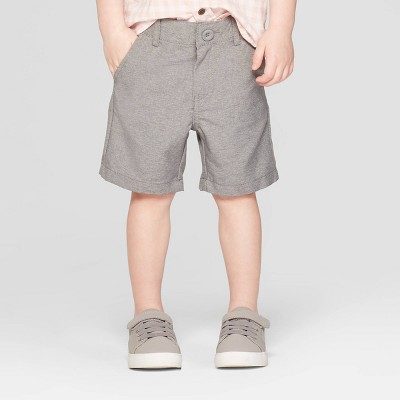 Toddler Boys' Quick Dry Chino Shorts - Cat & Jack™ Heather Gray 18M