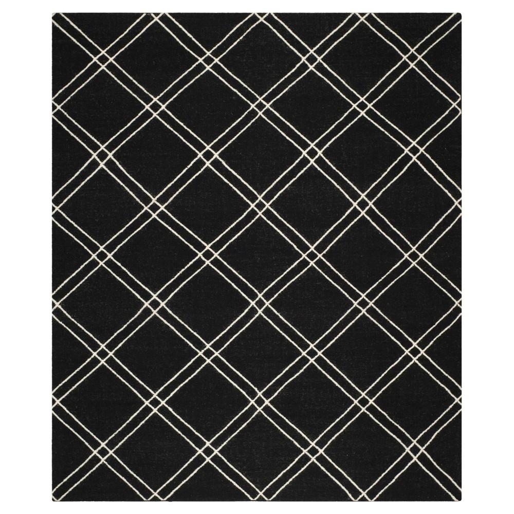 Dhurries Rug - Black/Ivory - (6'x9') - Safavieh