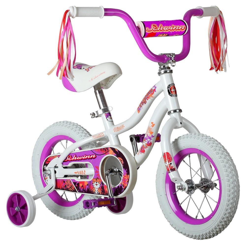 Schwinn Tigress 12 Kids' Bike with Training Wheels - White