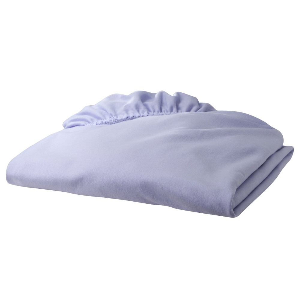Tl Care Jersey Cotton Fitted Crib Sheet Lavender