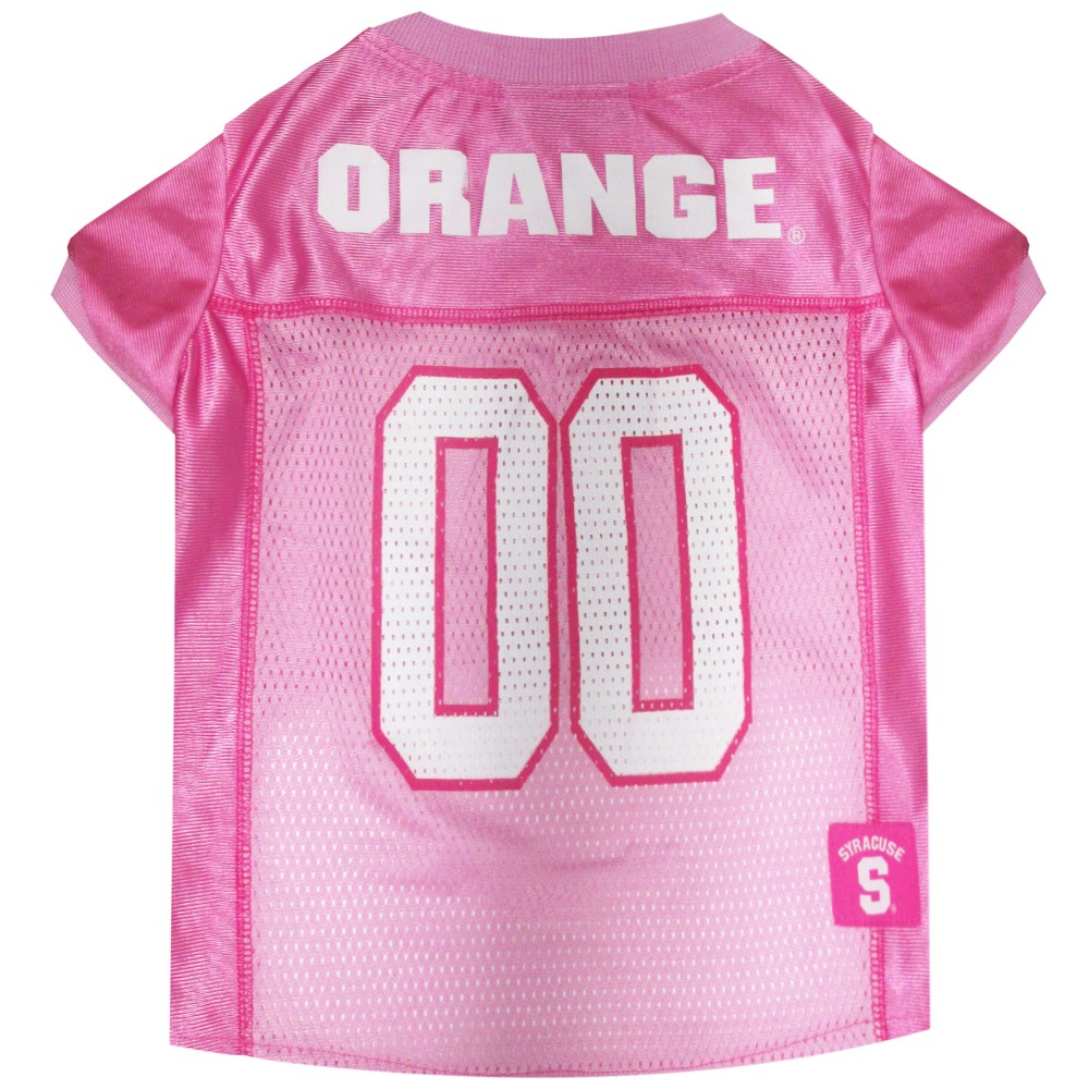 Pets First Syracuse Orange Pink Jersey - M, Multicolored
