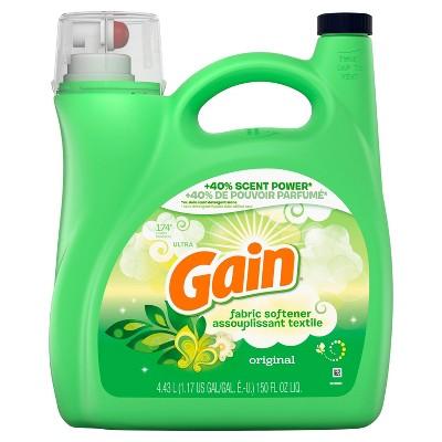 Gain Original Liquid Fabric Conditioner (Fabric Softener)- 150 fl oz