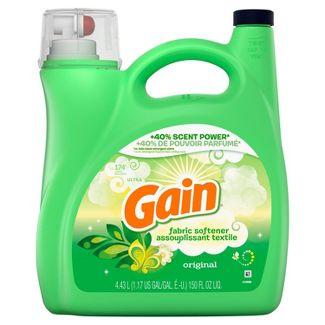 Gain Original Liquid Fabric Conditioner (Fabric Softener) - 150 fl oz