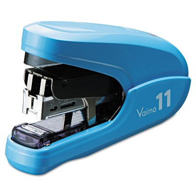 Max Flat Clinch Light Effort Stapler 35-Sheet Capacity Blue HD11FLKBE