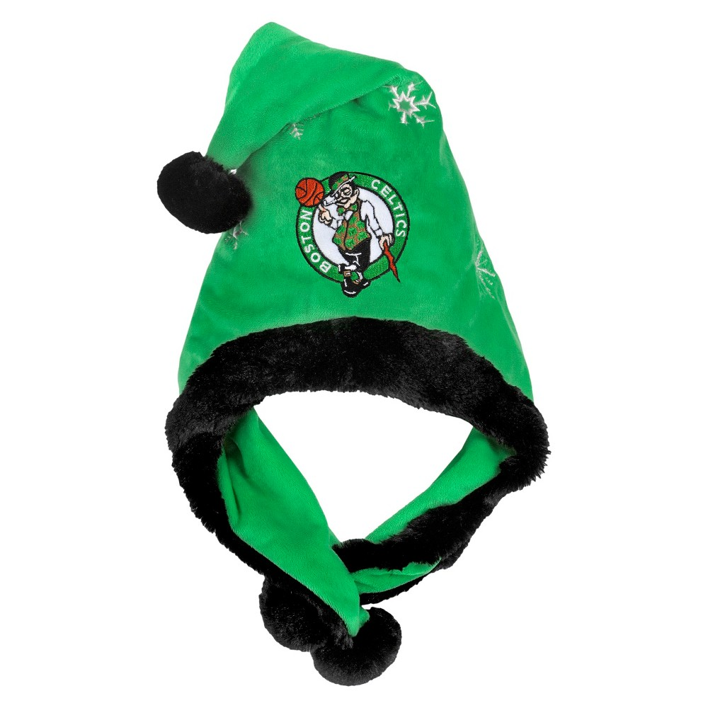 NBA Thematic Headwear Santa Hat Forever Collectibles - Boston Celtics, Adult Unisex