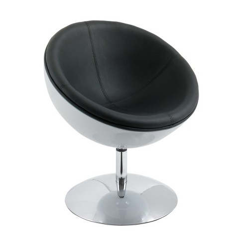 Modern Bonded Leather Circular Chair - CorLiving - image 1 of 7