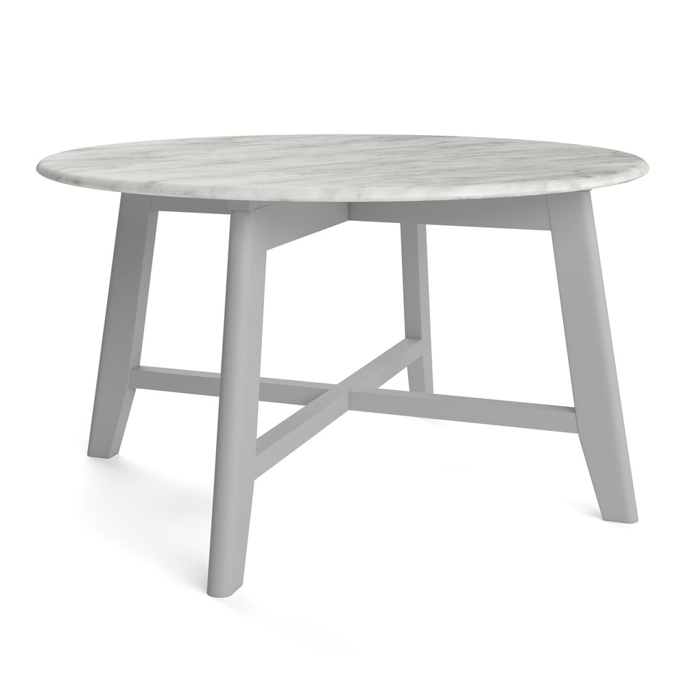 "Image of ""31.5"""" Elysian Coffee Table with Faux Marble Top Gray - Aeon"""