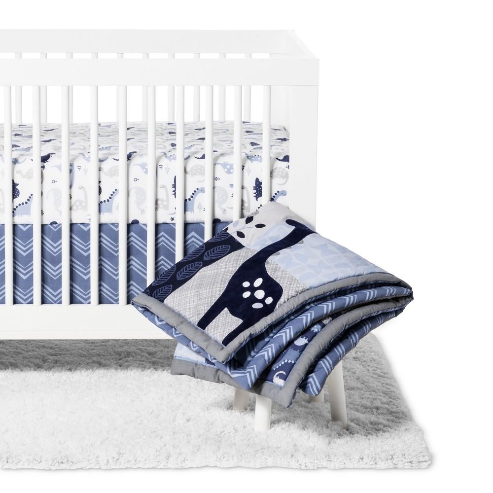 Image of Bedtime Originals 3pc Roar Crib Bedding Set - Blue