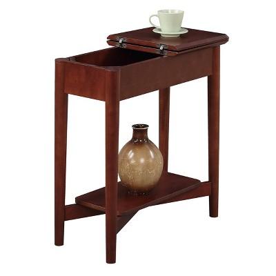 Attrayant Savannah Mid Century Flip Top End Table Mahogany Brown   Johar Furniture