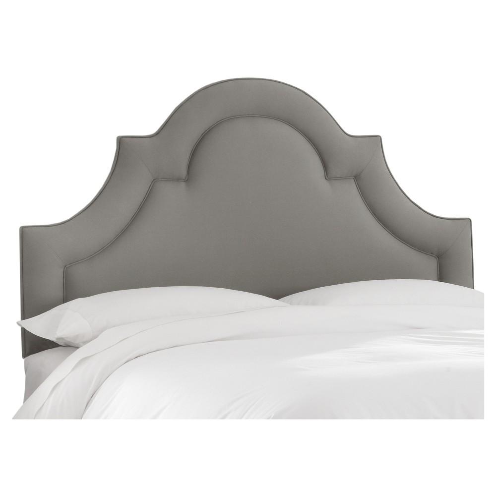 Skyline Arched Border Headboard - King - Skyline Furniture, Linen Gray