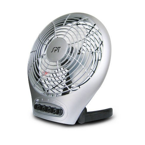 "Sunpentown - 7"" Desktop Fan with Ionizer - Silver - image 1 of 2"