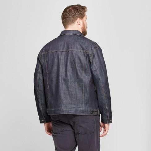 730aada7b419 Men s Big   Tall Selvedge Denim Jacket - Goodfellow   Co™ Dark Rinse    Target