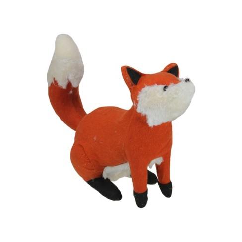 "Northlight 15.75"" Plush Sitting Fox Fall Thanksgiving Decoration - Orange/Cream - image 1 of 3"