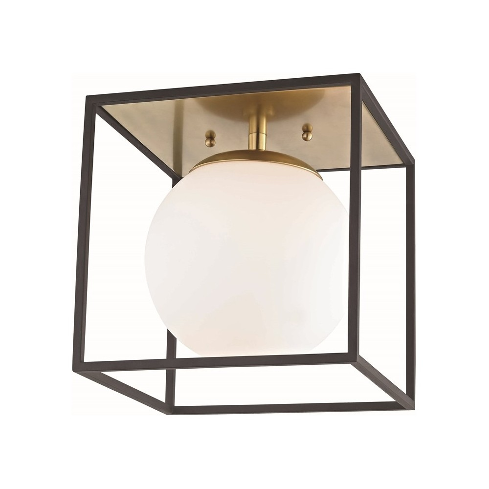 Image of 1pc Aira Small Flush Mount Brass - Mitzi by Hudson Valley