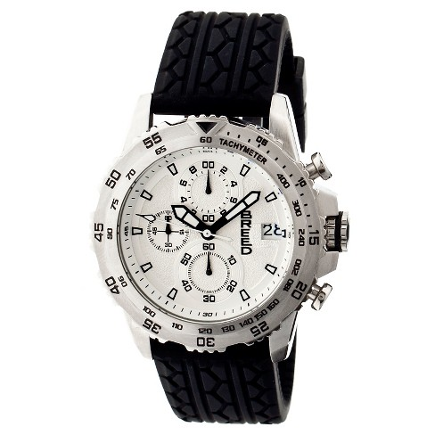 Men's Breed Socrates Watch with Tire-Tread Silicone Strap - image 1 of 3