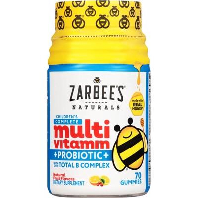 Multivitamins: Zarbee's Children's Complete Multivitamin + Probiotic