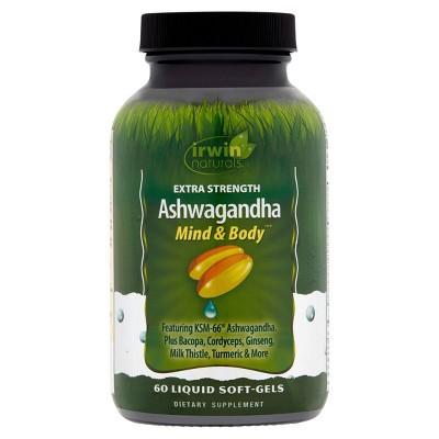 Irwin Naturals Ashwaganda Softgels - 60ct