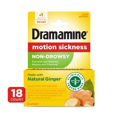 Dramamine Motion Sickness Non-Drowsy Tablets - 18ct
