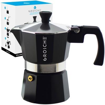 GROSCHE Milano Stovetop Espresso Maker Moka Pot Home Espresso Coffee Maker