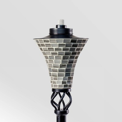 "Tiki Brand 62"" Hosta Metal Torch Gray Mosaic"