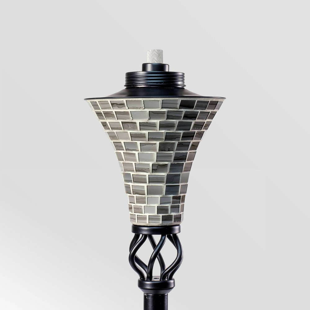 "Image of ""Tiki Brand 62"""" Hosta Metal Torch Gray Mosaic"""