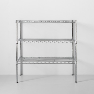 3 Tier Wide Wire Shelf Silver - Made By Design™
