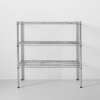 3 Tier Wide Wire Shelf Chrome - Made By Design™