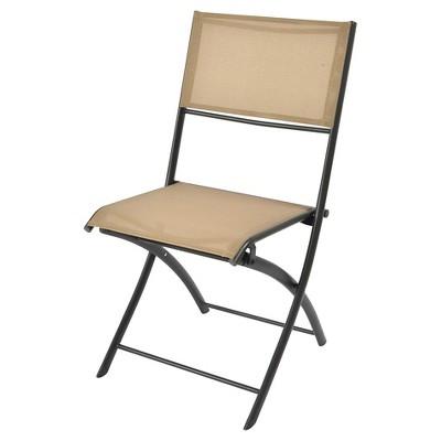 Sling Folding Patio Bistro Chair - Tan - Threshold™