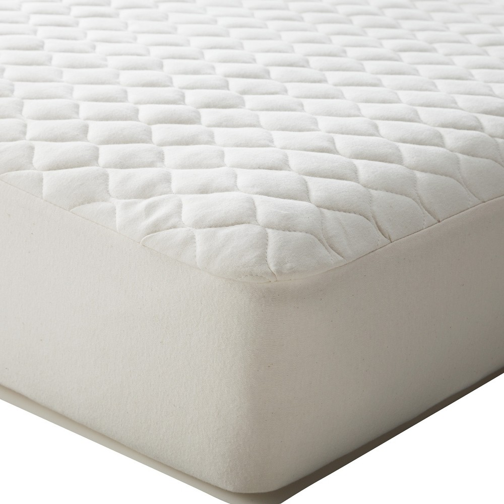 Tl Care Waterproof Quilted Fitted Crib Mattress Cover Made With Organic Cotton Top Layer Natural
