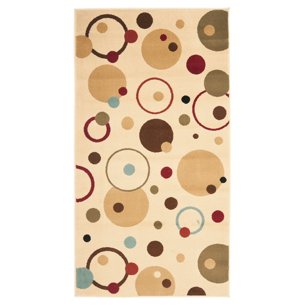 Ivory/Multi Abstract Loomed Accent Rug - (4'X5'7) - Safavieh, Multicolored White