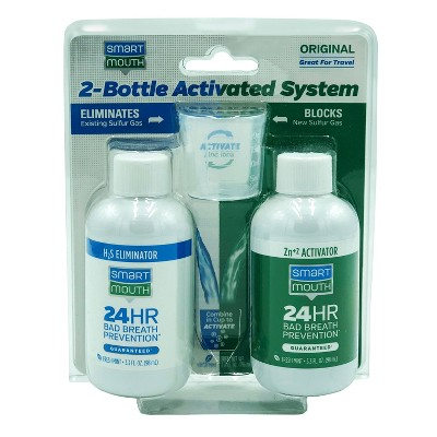 SmartMouth Original Activated Breath Rinse 2-Bottle System