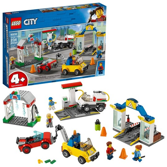 LEGO City Garage Center 60232 Building Kit for Kids 4+ with Toy Vehicle 234pc image number null