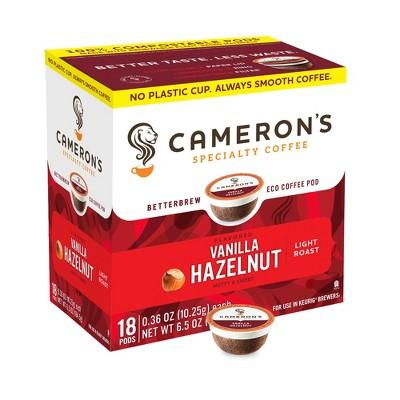 Cameron's Vanilla Hazelnut Light Roast Coffee - Single Serve Pods - 18ct
