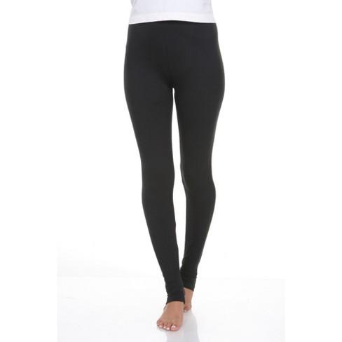 Women's Super Soft Solid Leggings - White Mark - image 1 of 1