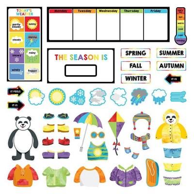 Carson Dellosa 55pc Weather Mini Bulletin Board Set