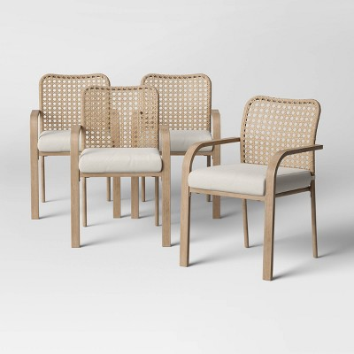 Collier 4pk Cane-Look Woven Back Patio Dining Chair - Project 62™