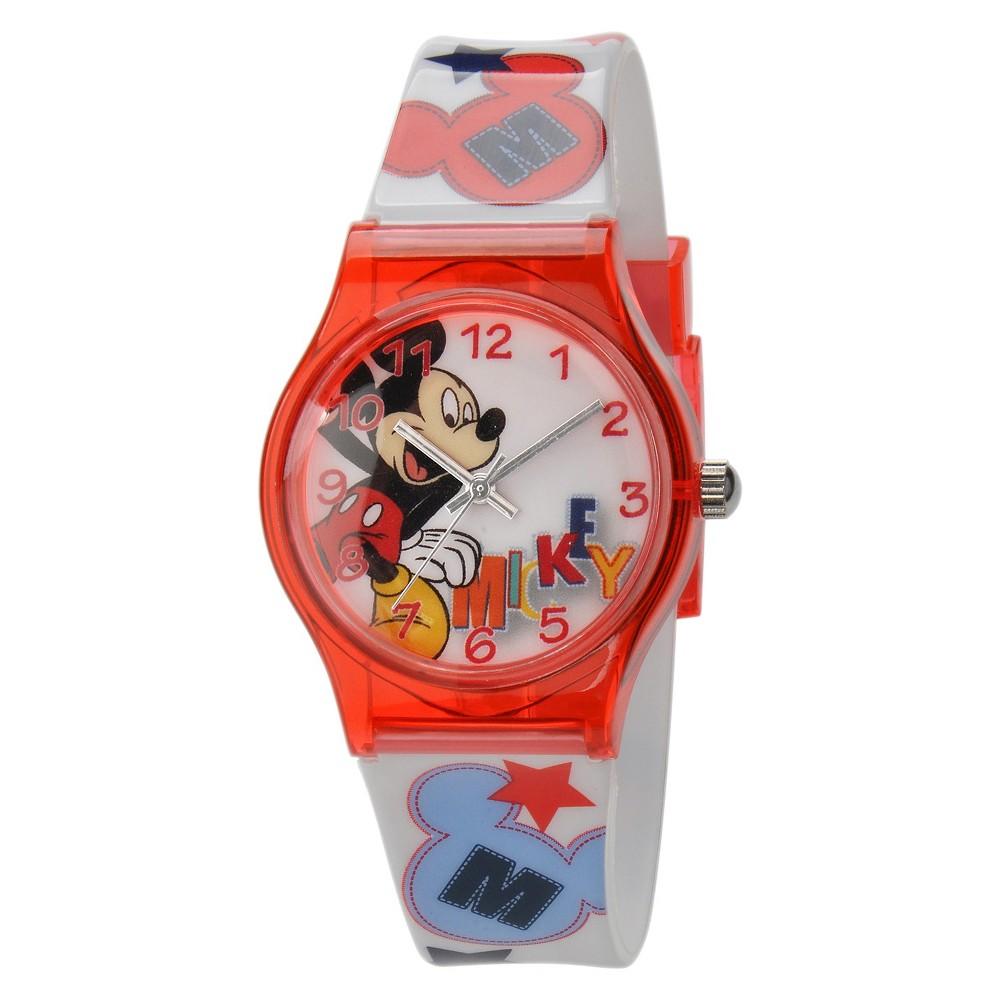 Kid's Disney Mickey Watch, Boy's, Red