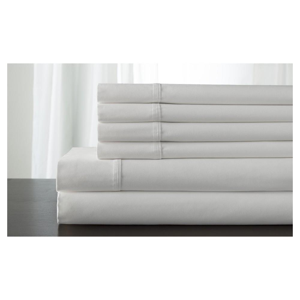 Camden 100% Cotton Bonus 350TC Sheet Set (California King) White