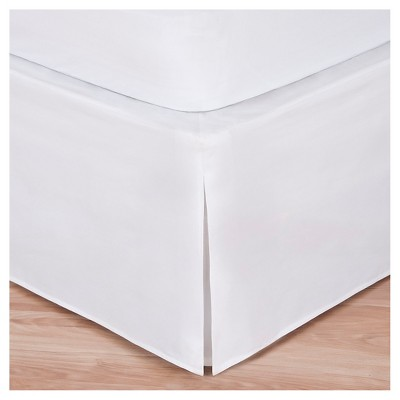 Magic Skirt Wrap-around Tailored Bed Skirt - White (King)