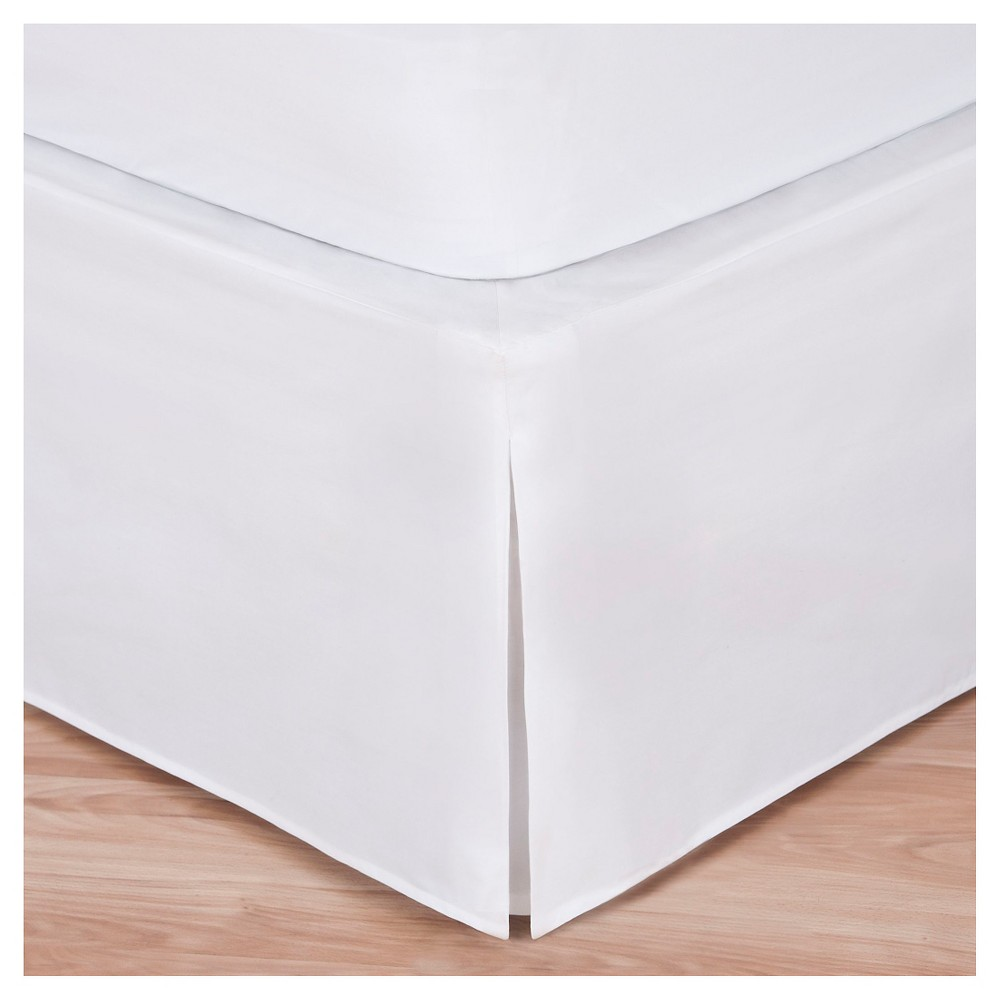 Image of Magic Skirt Wrap-around Tailored Bed Skirt - White (Queen)