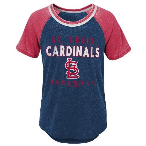 d7d8a78ffe657 MLB St. Louis Cardinals Girls' Burnout Alt T-Shirt
