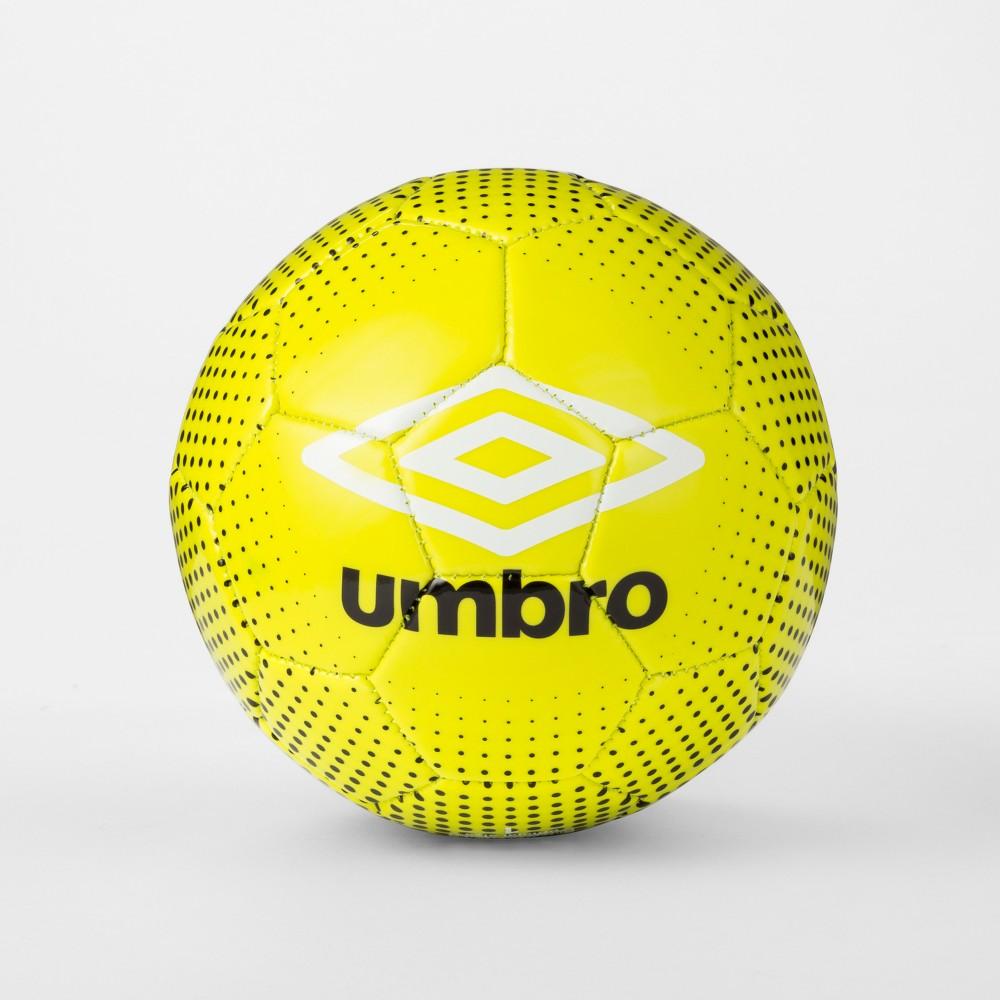 Umbro Duotone Size 1 Soccer Ball - Black/Lime (Black/Green)