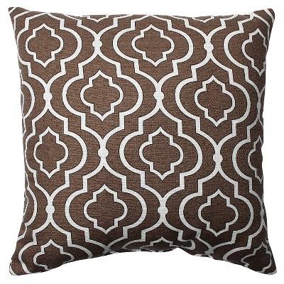 Chocolate Donetta Throw Pillow 16.5 x16.5  - Pillow Perfect®