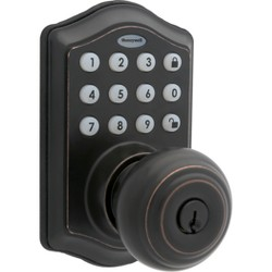 Honeywell Electronic Entry Knob Door Lock- Oil Rubbed Bronze